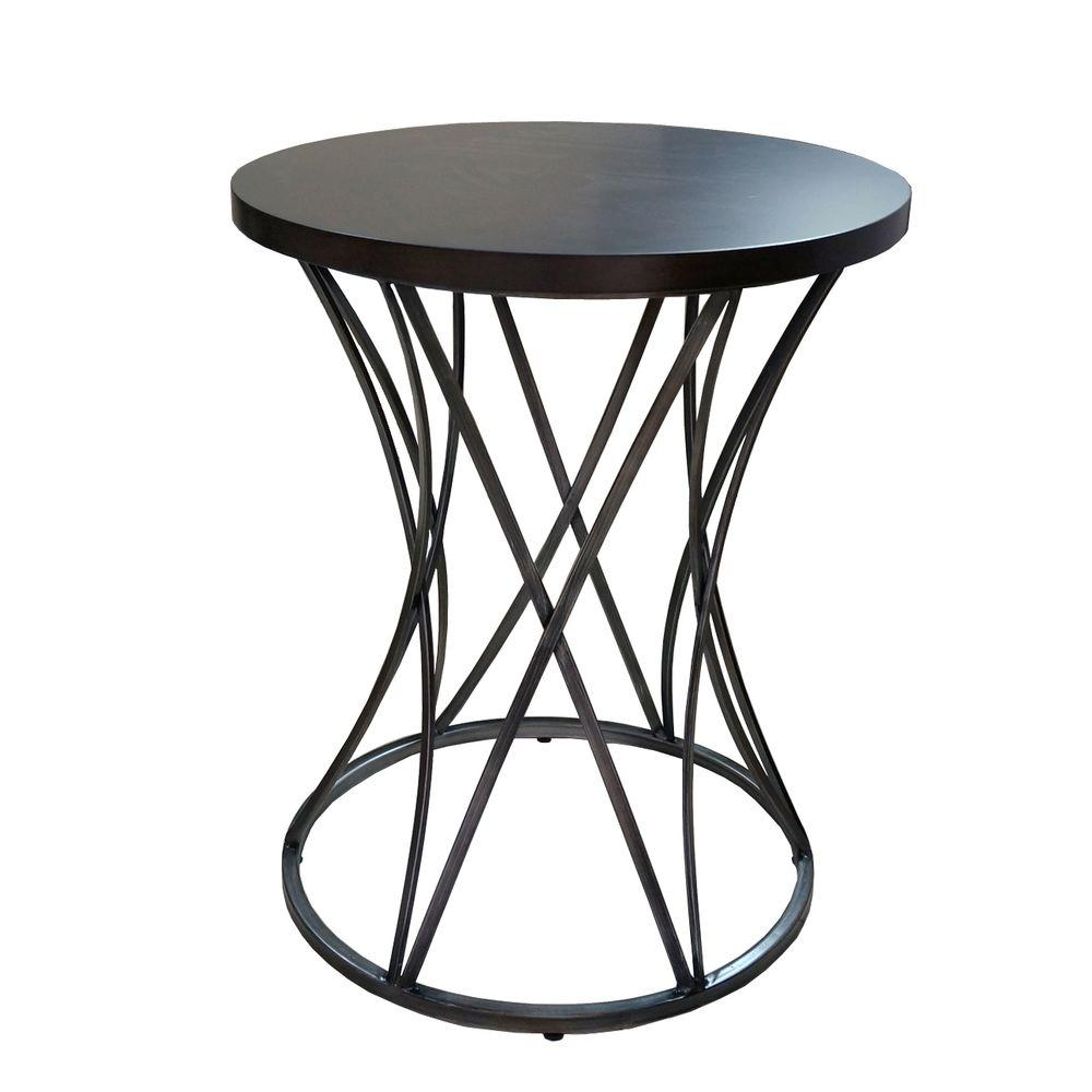 amber antique silver end table. amber antique silver end table  the home depot