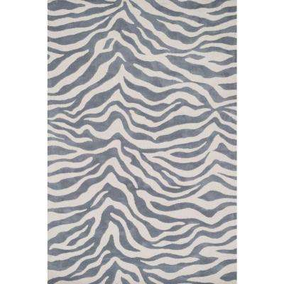 Cassidy Lifestyle Collection Ivory/Grey 3 ft. 6 in. x 5 ft. 6 in. Area Rug
