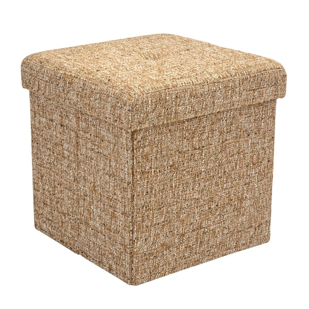 Ottomans Lifestyle Single Ottoman: Simplify Brown 15 In. X 15 In. X 15 In. Single Folding