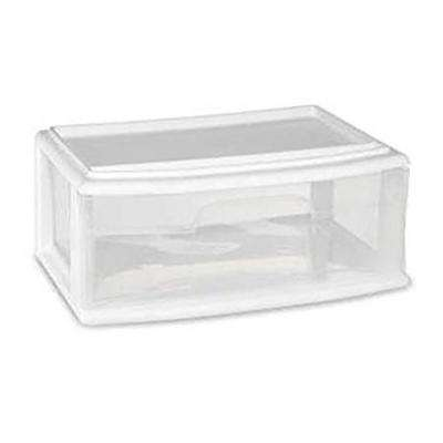 9 in. W x 15 in. H Single Wide Under Bed Drawer in White (Set of 3)