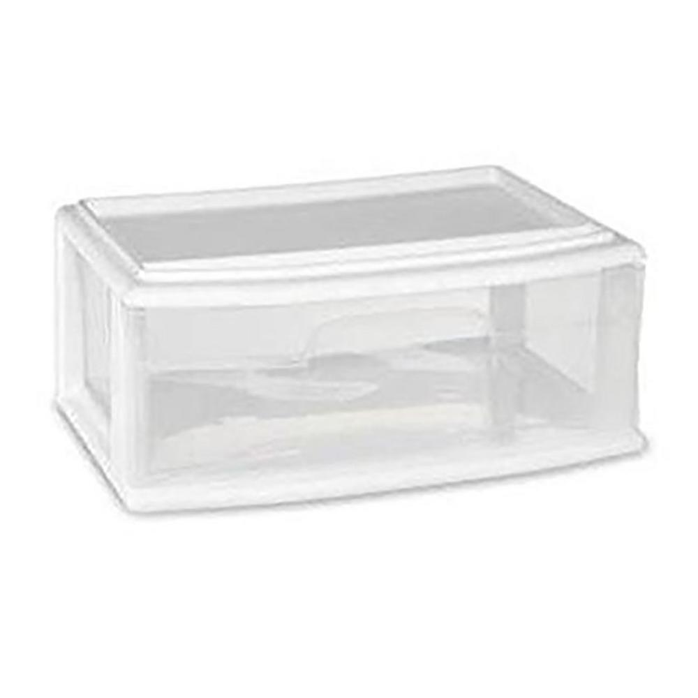 HOMZ 9 in. W x 15 in. H Single Wide Under Bed Drawer in White (Set of 3)