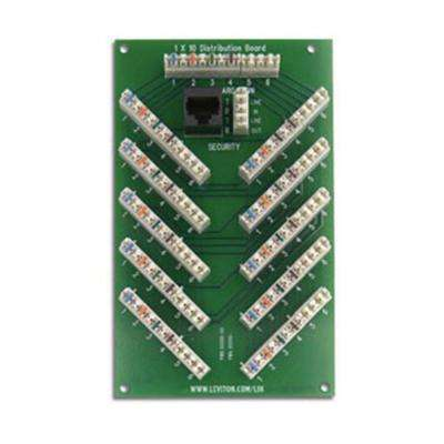 Structured Media 1x10 6-Line Bridged Telephone Expansion Board