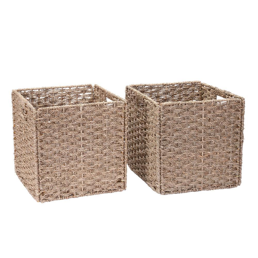 Internets Best Canvas Storage Bin Brown Box Container 2 Pack