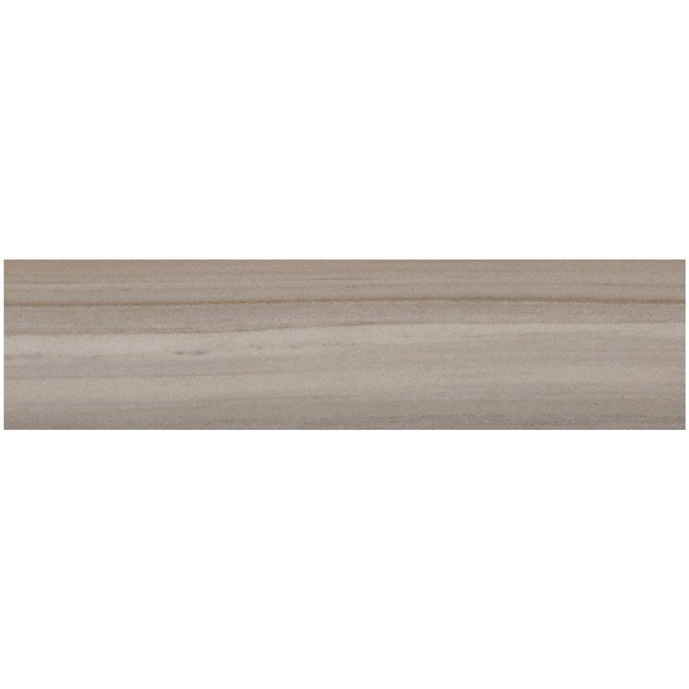 Marble View Linear Gray Marble Matte 12 in. x 48 in.