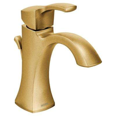 Voss Single Hole Single Handle High-Arc Bathroom Faucet in Brushed Gold