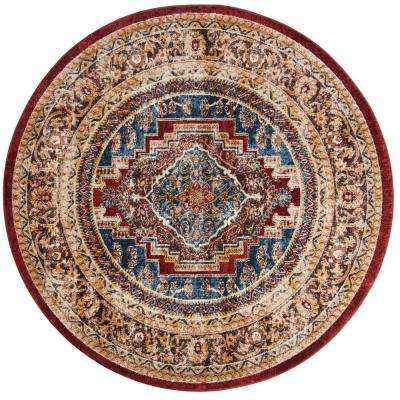 Bijar Royal/Brown 6 ft. 7 in. x 6 ft. 7 in. Round Area Rug
