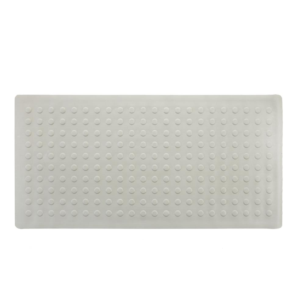 18 in. x 36 in. Rubber Bath Mat in Tan