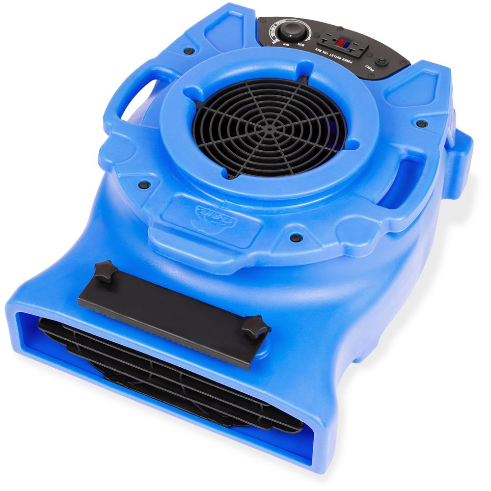 B-Air 1/4 HP Low Profile Air Mover for Water Damage Restoration Carpet Dryer Floor Blower Fan in Blue