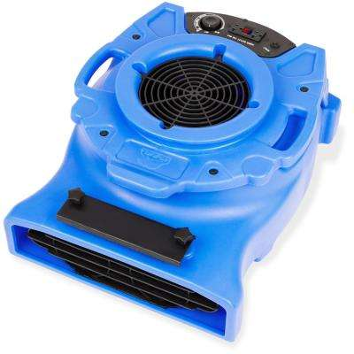 1/4 HP Low Profile Air Mover for Water Damage Restoration Carpet Dryer Floor Blower Fan in Blue