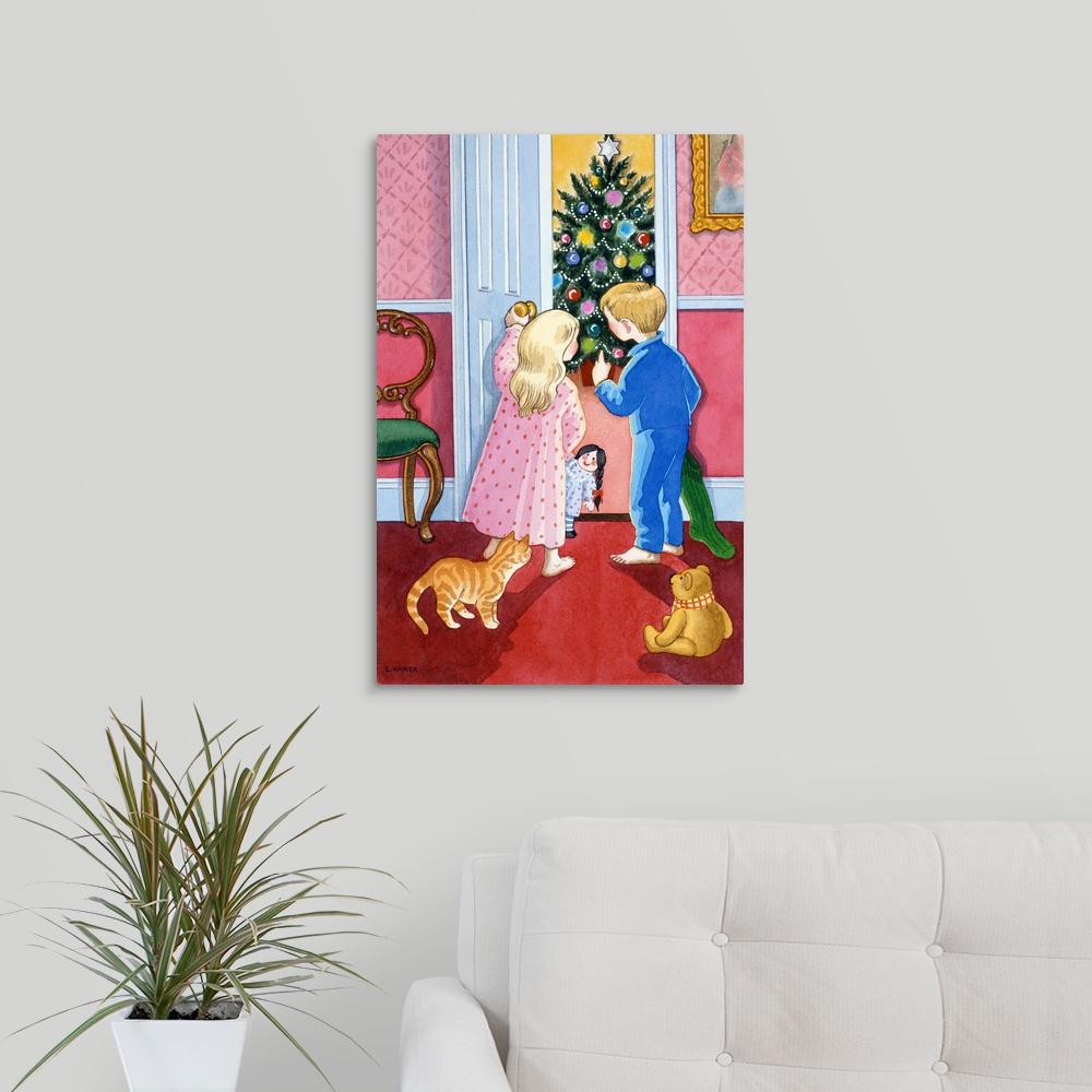 """Look at the Christmas Tree"" by Lavinia Hamer Canvas Wall Art"