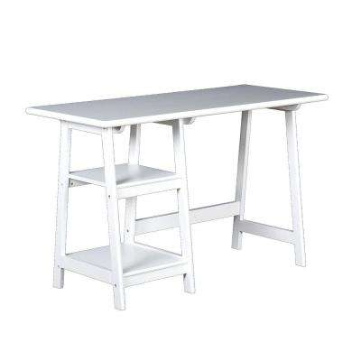 Beatrix White Desk with Shelving
