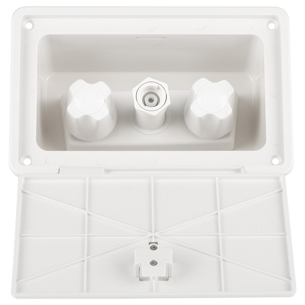 2-Handle RV Exterior Spray Box in White