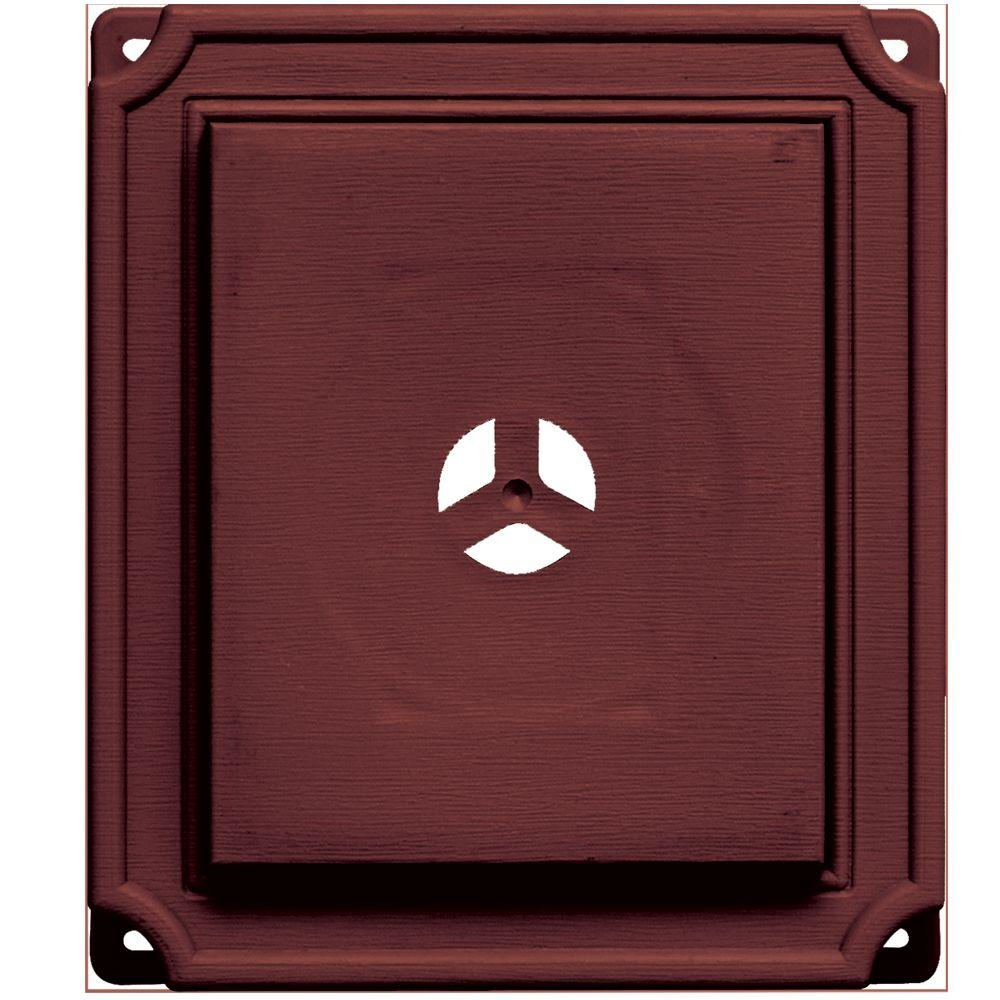 Builders Edge 7 in. x 8 in. #078 Wineberry Scalloped Mounting Block