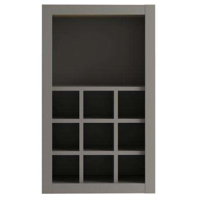 Cambridge Assembled 18x30x12 in. Wall Flex Cabinet with Shelves and Dividers in Gray