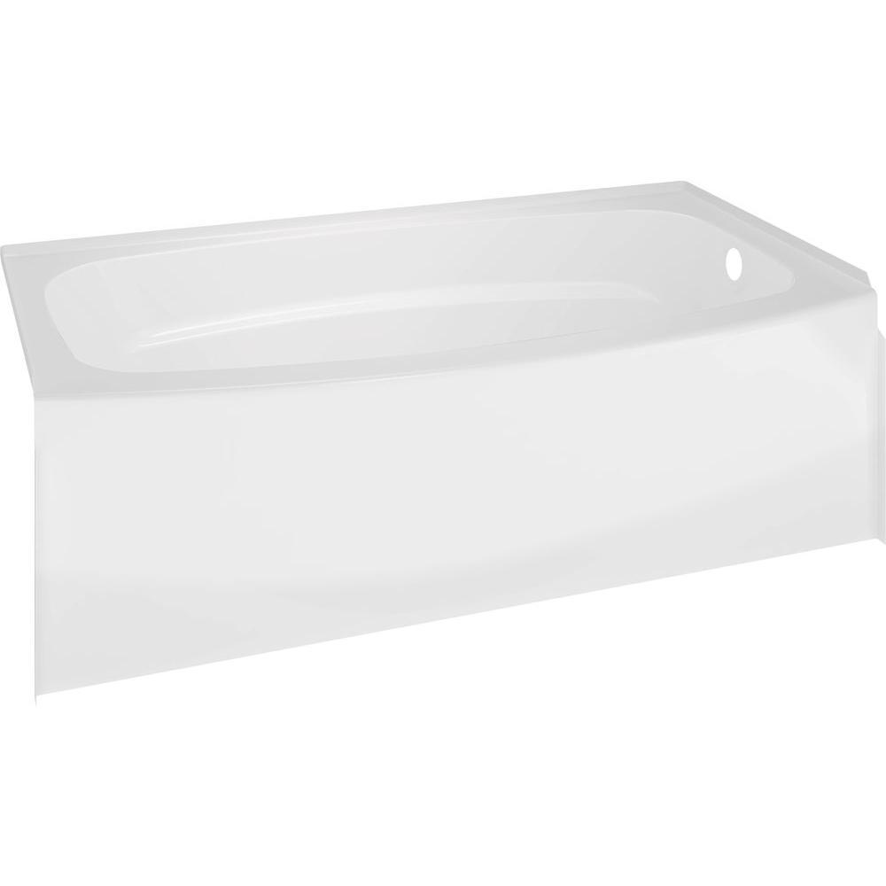Delta Classic 400 Curve 60 in. Right Drain Rectangular Alcove Bathtub in White