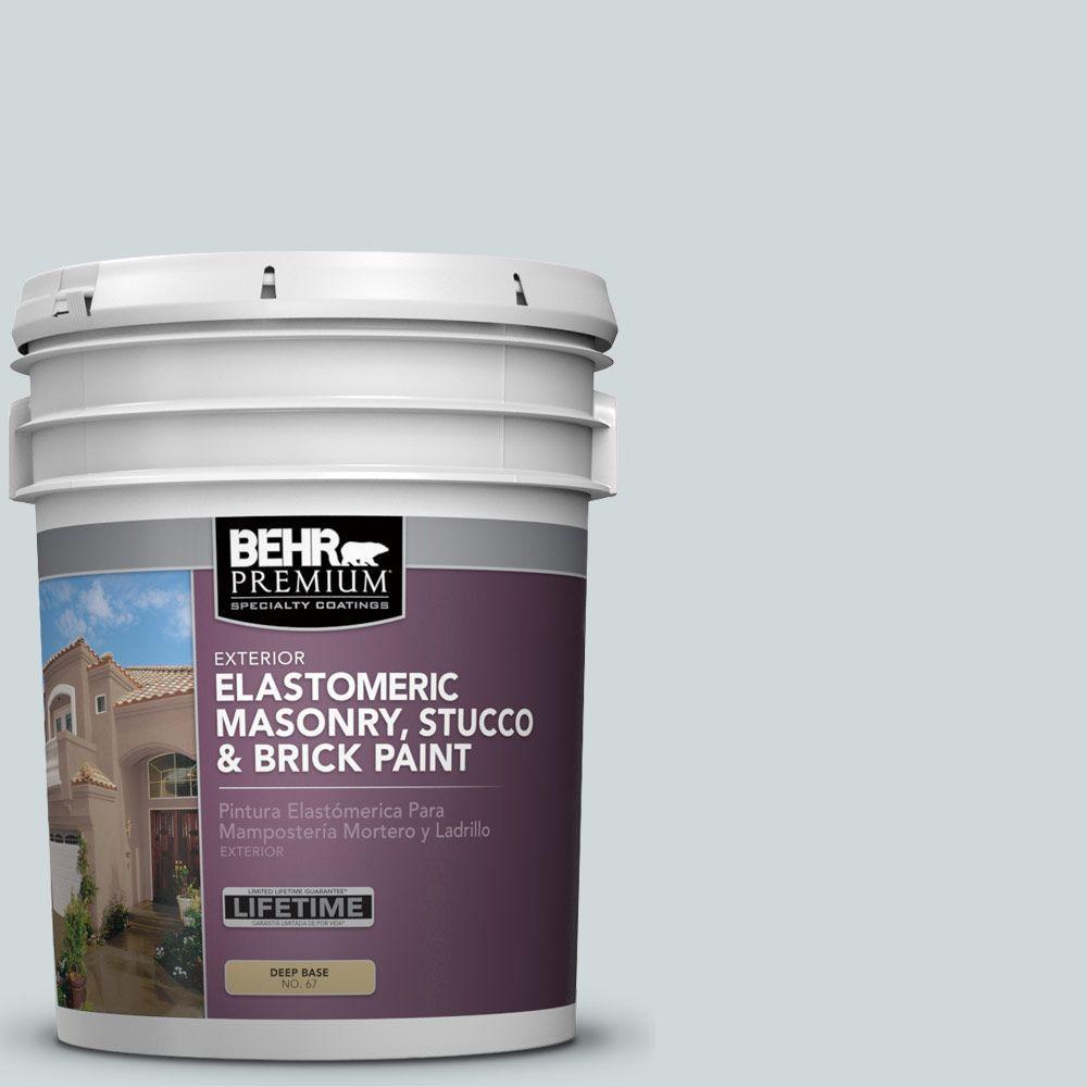 5 gal. #MS-65 Winter Days Elastomeric Masonry, Stucco and Brick Exterior Paint