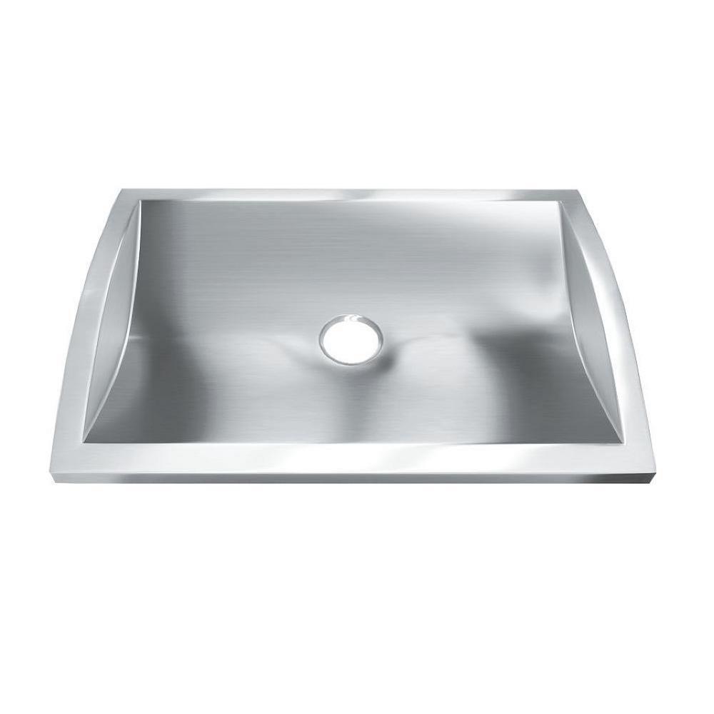 Hardy 3 in. Drop-In Bathroom Sink in Stainless Steel