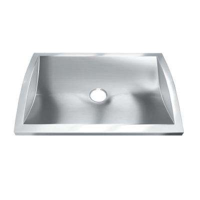 Hardy 3 in. Drop-In Bathroom Sink in Stainless Steel