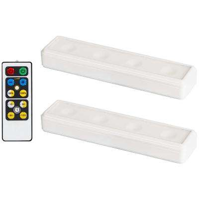 LED White Wireless Under Cabinet Light with Remote (2-Pack)