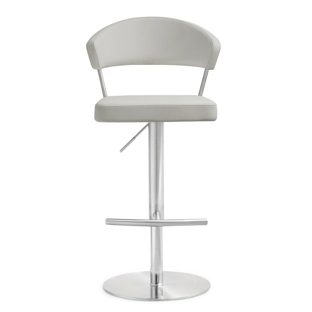 Tov Furniture Cosmo Light Grey Steel Barstool