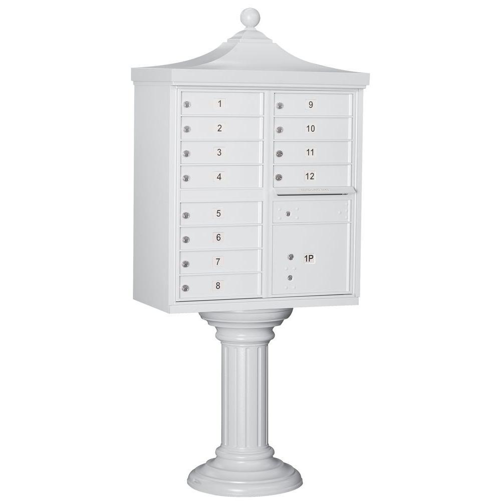 Salsbury Industries Regency Decorative 12-Compartment Cluster Box Unit