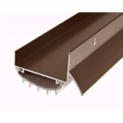 E/O 1-3/4 in. x 36 in. Brown U-Shape Door-Bottom Sweep with Drip Cap