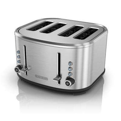 4-Slice Stainless Steel Extra-Wide Slot Toaster