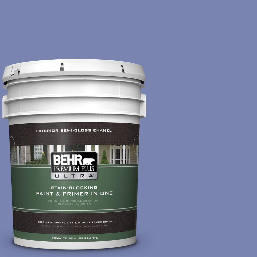 5-gal. #610B-5 Corsican Purple Semi-Gloss Enamel Exterior Paint
