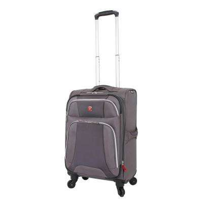 Monte Leone 20 in. Grey Spinner Suitcase