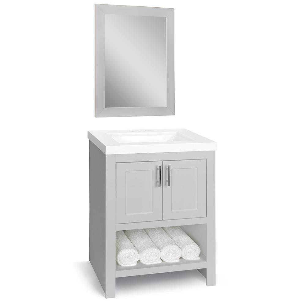 Gray 24 Inch Vanities Bathroom Vanities Bath The Home Depot