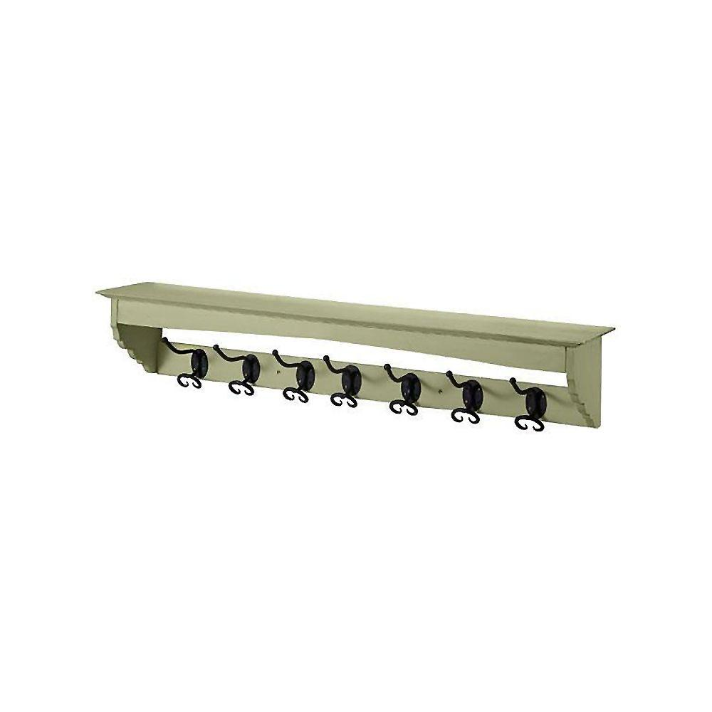 Home Decorators Collection 41 in. W x 7.5 in. H x 7.5 in. D French County Sage Mounted Coat Rack