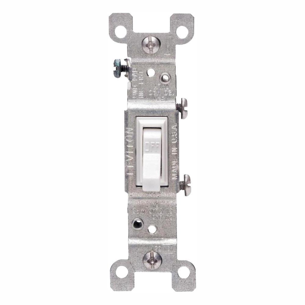 15 Amp Single-Pole Switch, White (10-Pack)