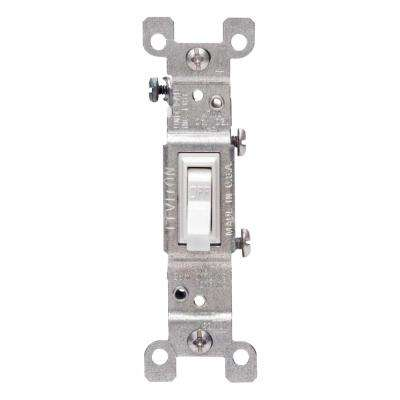 15 Amp Single-Pole Switch, White (10-Pack)