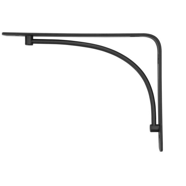6 in. x 8 in. Black Arch Decorative Shelf Bracket