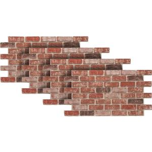 Urestone Old Town 24 In X 46 3 8 In Faux Used Brick
