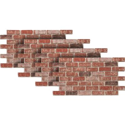 Old Town 24 in. x 46-3/8 in. Faux Used Brick Panel (4-Pack)