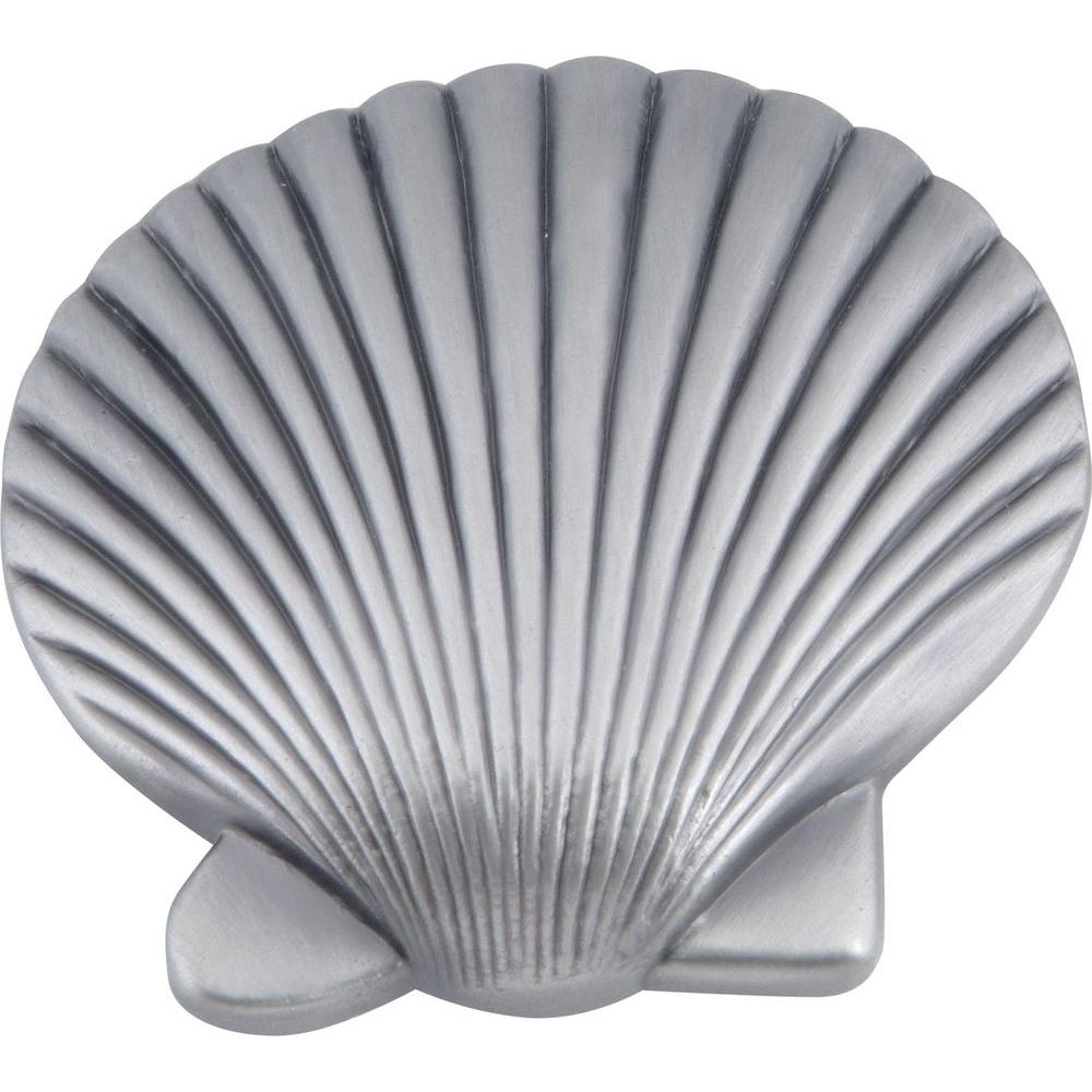 Atlas Homewares Sea Collection Pewter 2 in. Clamshell Knob