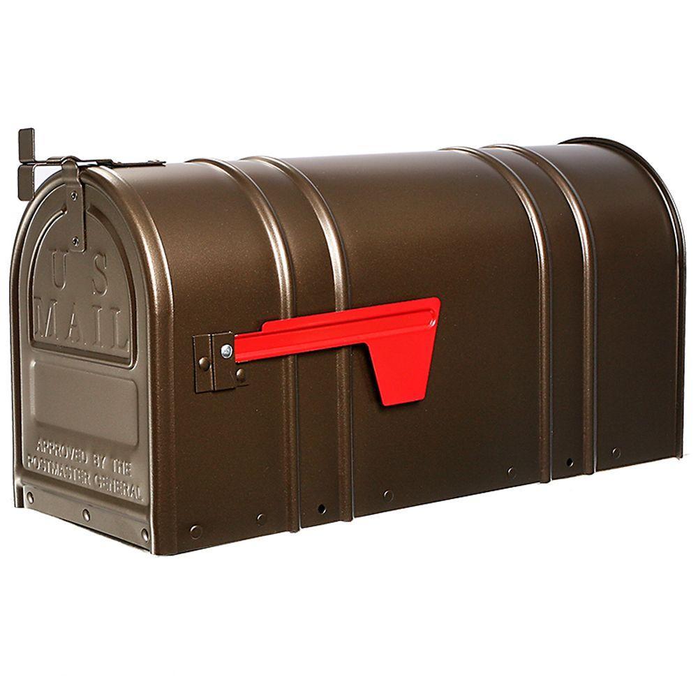 Postal Pro Carlton Post Mount T2 Mailbox Bronze PP150SAB