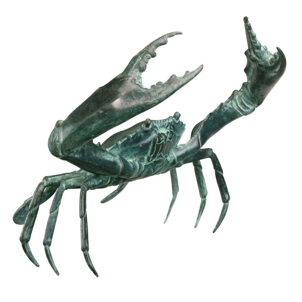 Design Toscano 10 in. Crab Statue-DISCONTINUED