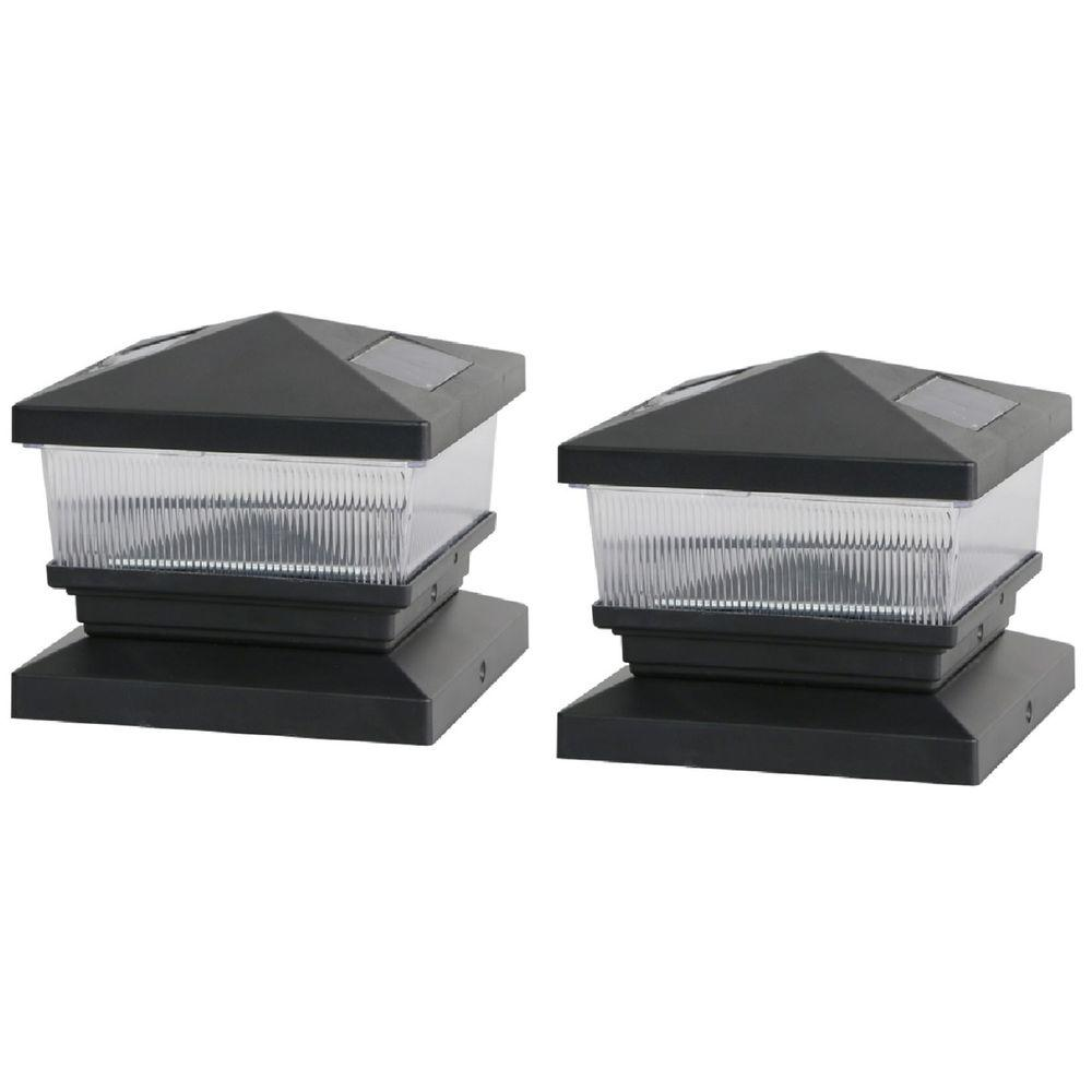 Solar Black Post Cap with 6 in. x 6 in. Adapter
