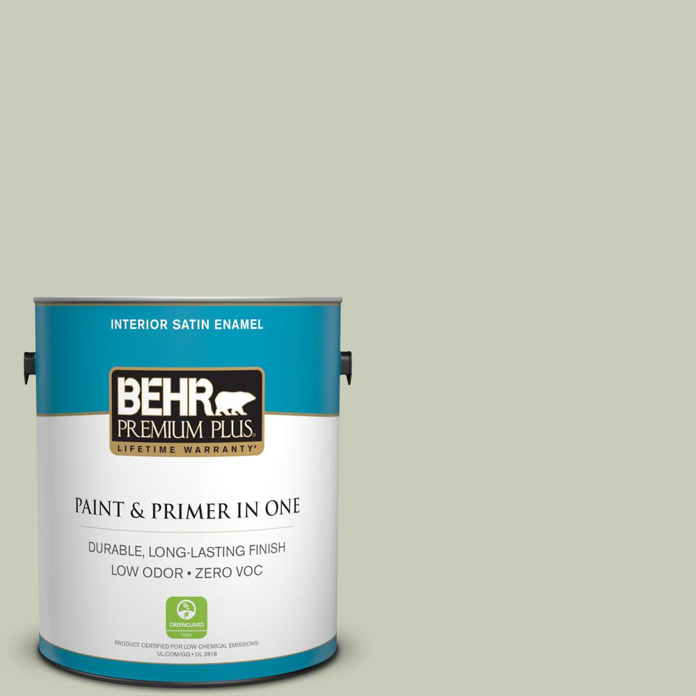 BEHR Premium Plus 1-gal. #S380-2 Morning Zen Satin Enamel Interior Paint