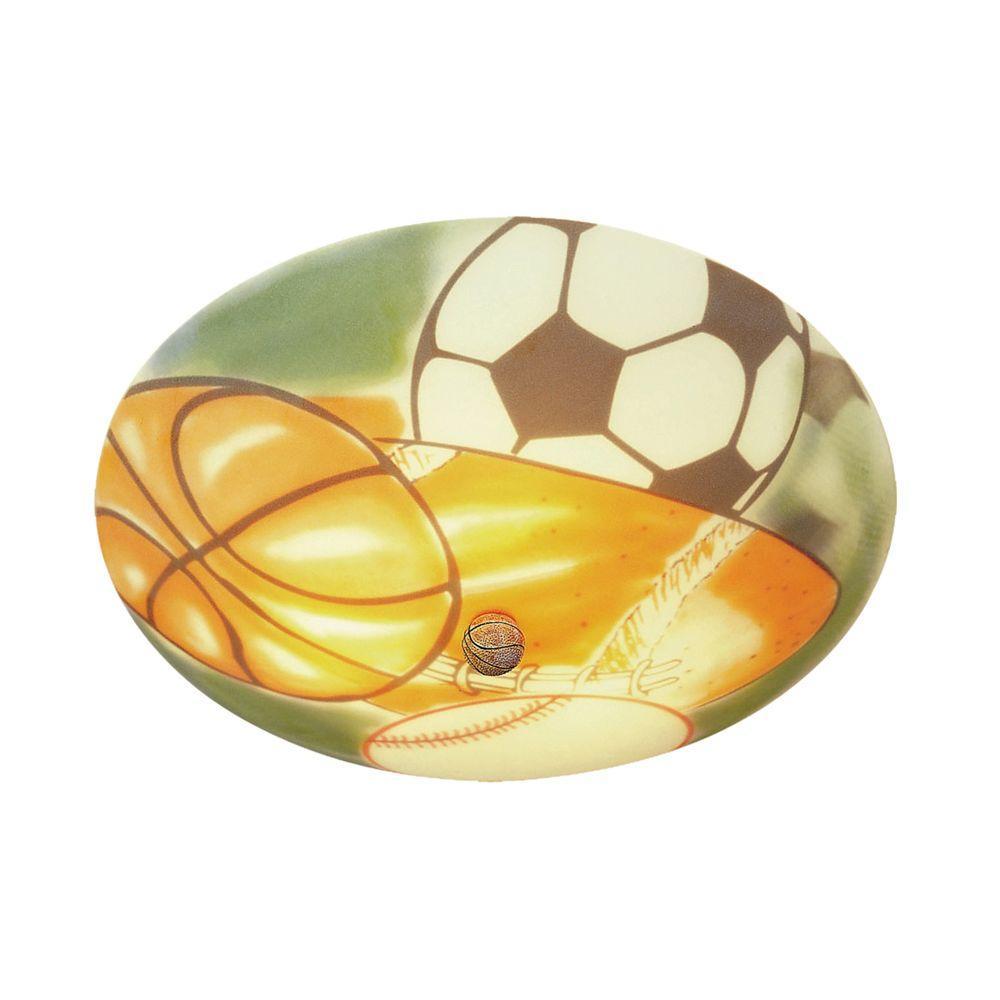 Titan Lighting Kidshine  3-Light White Novelty Ceiling Semi Flush Mount