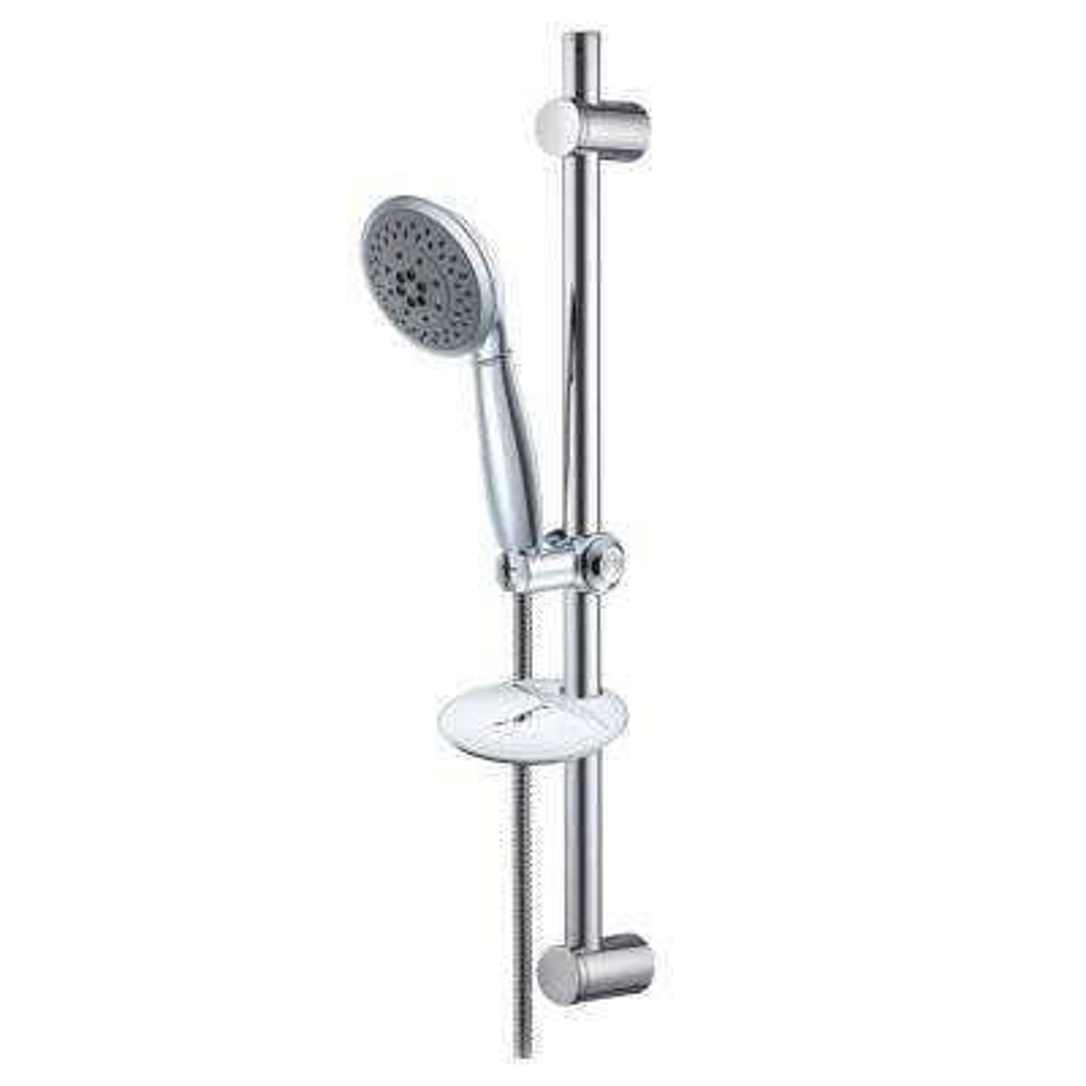 24 in. 5-Spray Slide Bar Hand Shower in Chrome