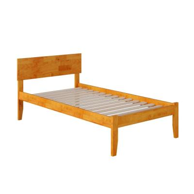 Orlando Caramel Latte Twin XL Platform Bed with Open Foot Board