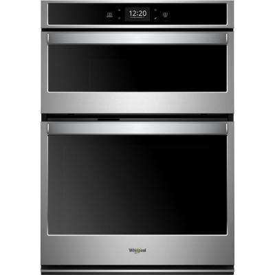 27 in. Electric Smart Convection Wall Oven with Built-In Microwave with Touchscreen in Stainless Steel