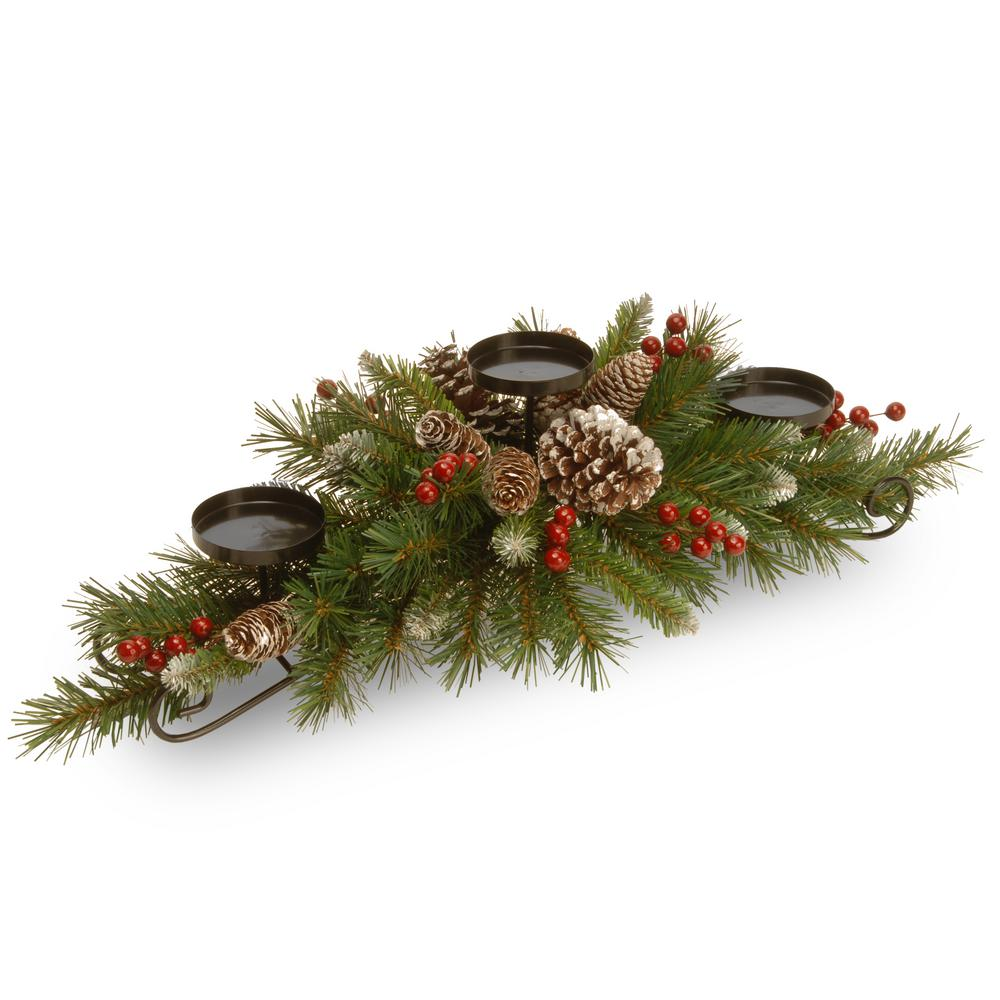 National Tree Company 30 In Frosted Berry Centerpiece And