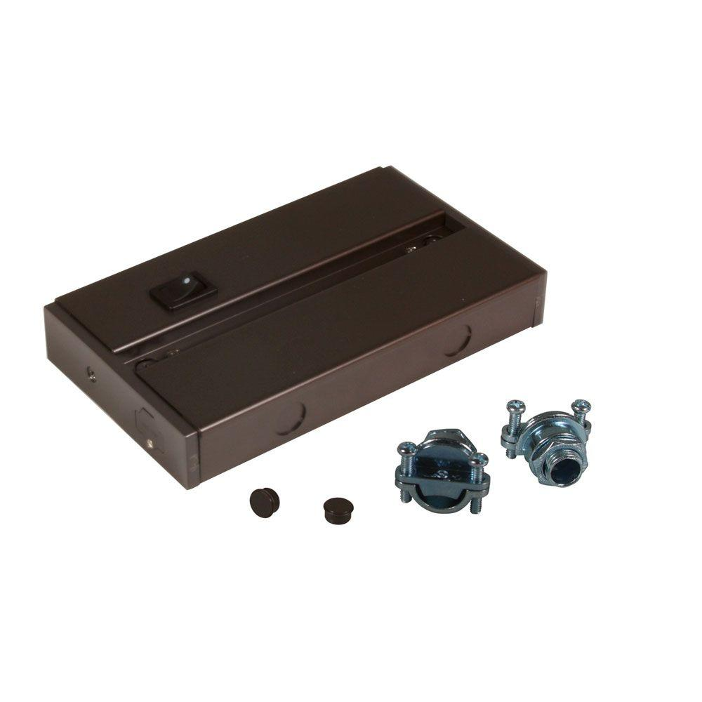Irradiant Dark Bronze Hardware Junction Box for LED Under Cabinet Light