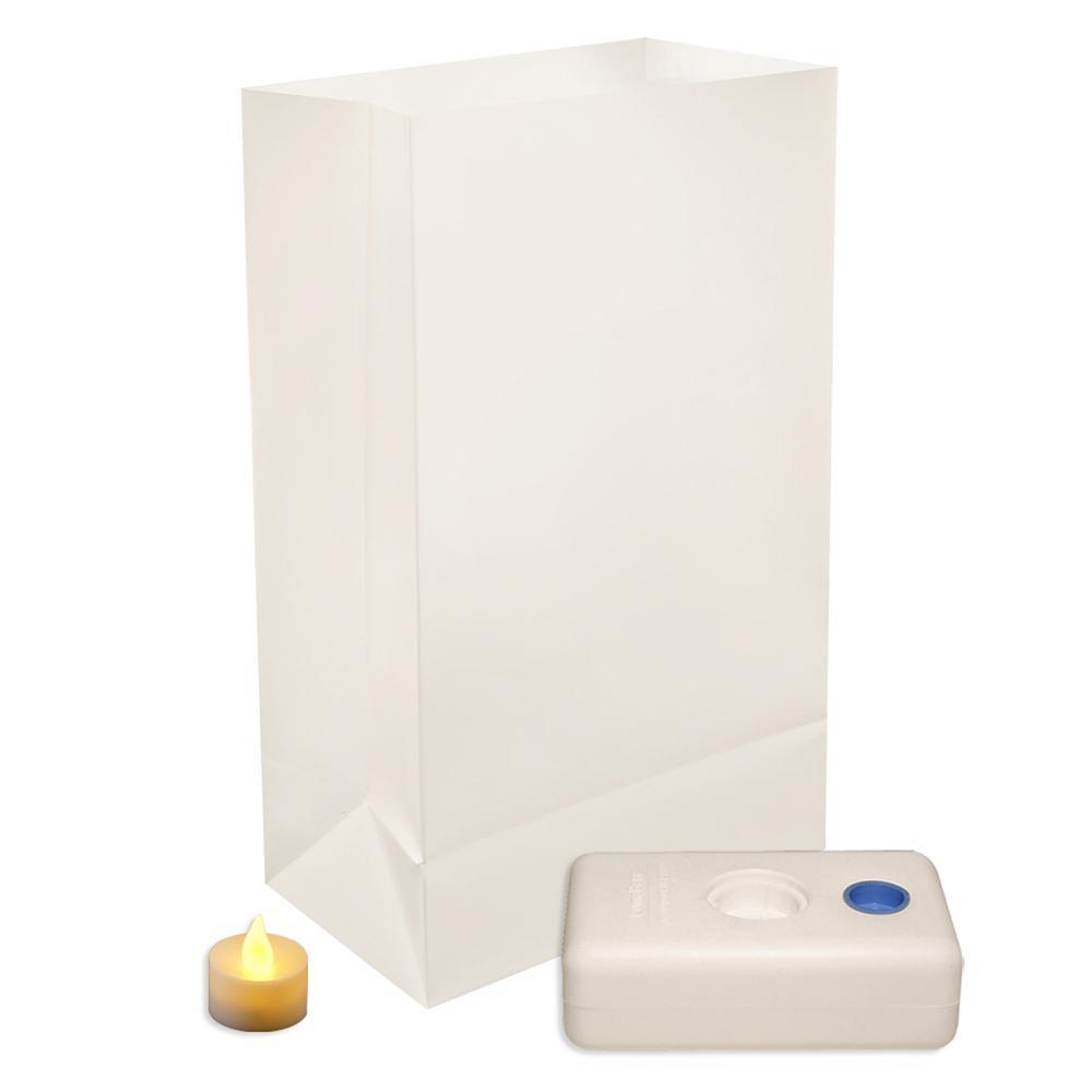 Lumabase LED Luminaria Kit in Traditional White (Set of 12)