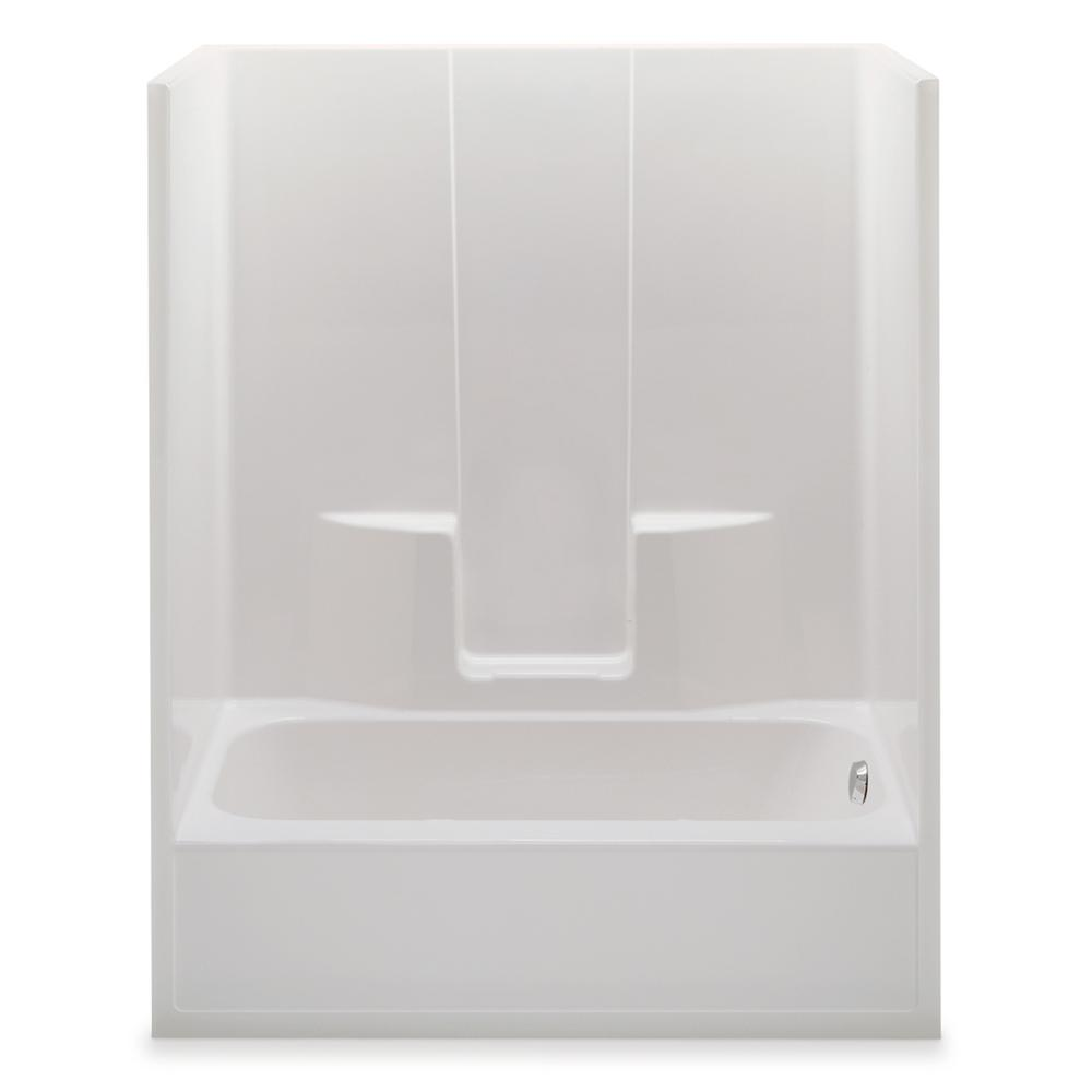 Everyday 60 in. x 34.5 in. x 76.5 in. 1-Piece Bath