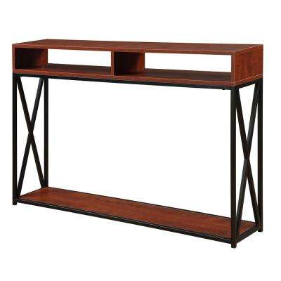 Tucson Cherry and Black Deluxe 2 Tier Console Table